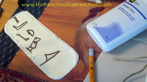 make an egyptian cartouche
