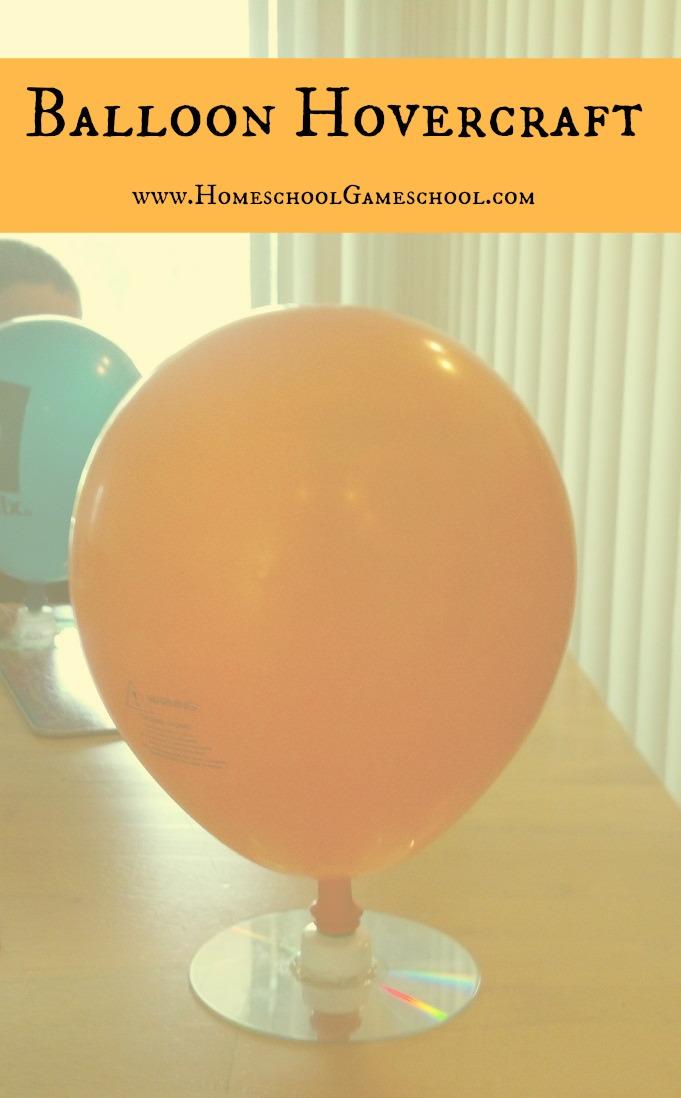 Balloon Hovercraft Experiment Balloon Hovercraft