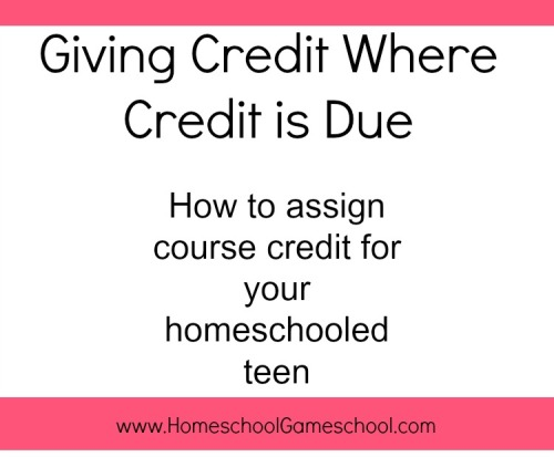 high school credit for homeschoolers